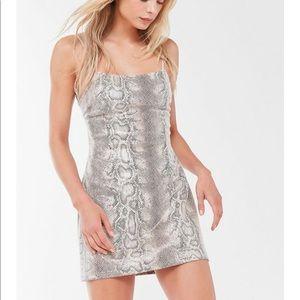 Urban Outfitters Snake Print Mini Dress